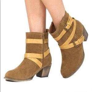 JustFab Justina Strappy Boots